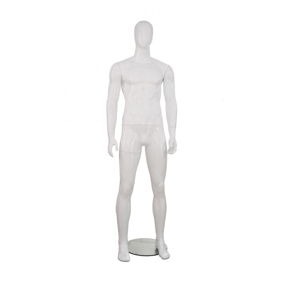 MMG-3 Манекен мужской безликий, белый глянец