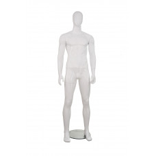 Манекен чоловічий білий глянець, безликий, MMG-3