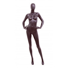 Манекен жіночий чорний матовий безликий, JL-EML-B