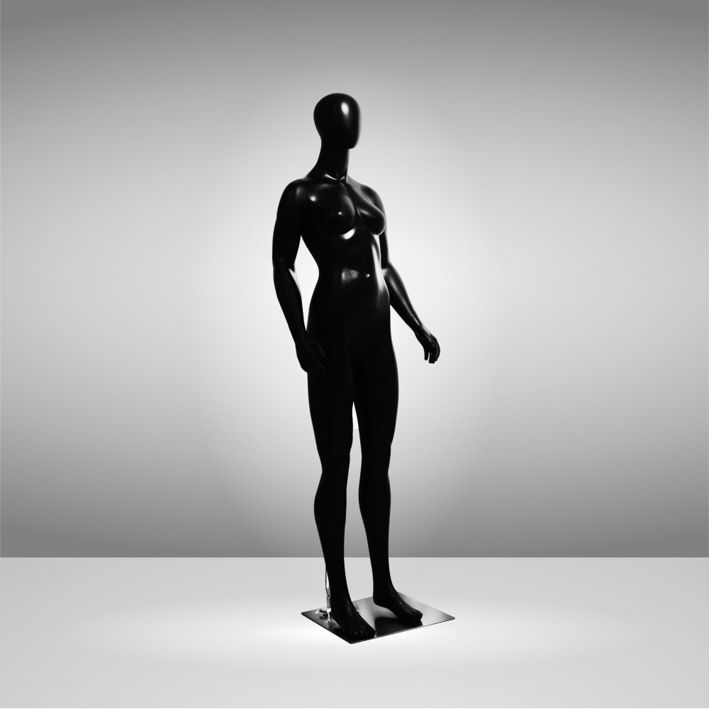JSF-WOMAN-1 Манекен женский чёрный безликий