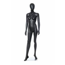 Манекен жіночий чорний безликий, DOLL-03