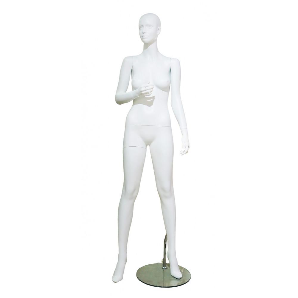 LENA-22w Манекен женский белый БЕЗ макияжа