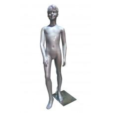Манекен дитячий сріблястий без макіяжу, (хлопчик 137 см), AF-15