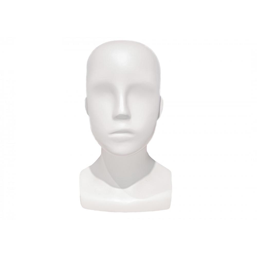 JLB-1 Голова детского манекена АБСТРАКТНАЯ белая матовая